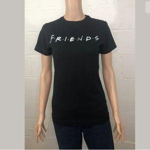 Tultex Misses FRIENDS T-Shirt Size S Black